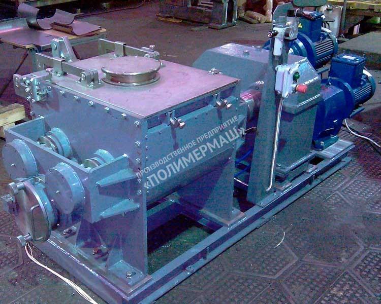 Смесители ЗШ-50; ЗШ-100, ЗШ-250, ЗШ-400, ЗШ-1000 и ЗШ-2000 с «Z-образными» роторами и выгружным шнеком